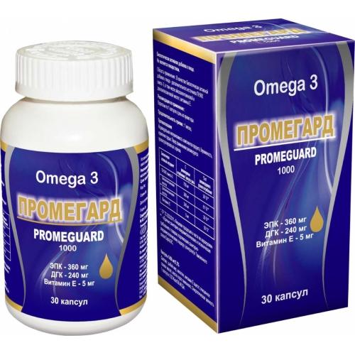Промегард (капс.сод. омега 3 жирн.кислоты и вит.Е) №30