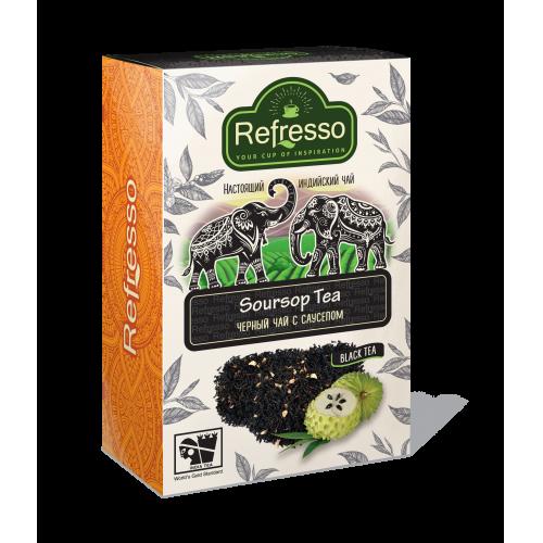 Чай Refresso  черный с саусепом